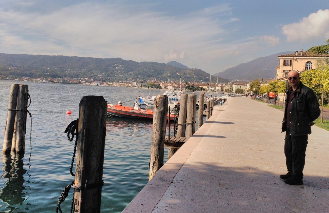 Saló, en la ribera del lago Garda.